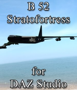 B 52 Stratofortress for DAZ Studio 3D Models Digimation_ModelBank