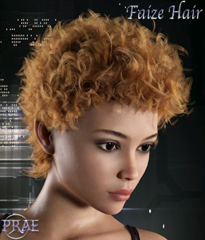 Prae-Faize Hair For G3/G8 Daz 3D Figure Assets prae