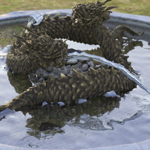 3D Scenery: Oriental Dragon Fountain image 2