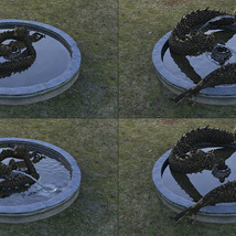 3D Scenery: Oriental Dragon Fountain image 4
