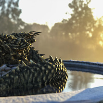 3D Scenery: Oriental Dragon Fountain image 5
