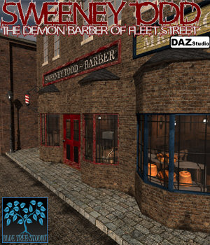 Sweeney Todd for DAZ Studio 3D Models BlueTreeStudio