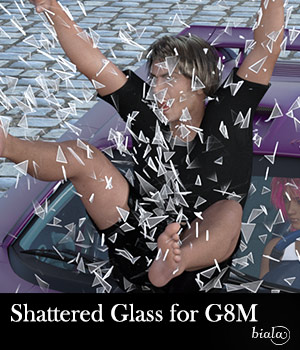 Shattered Glass for G8M 3D Figure Assets biala