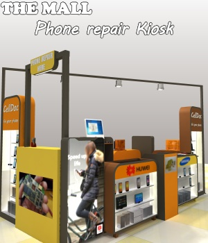 The Mall - Phone repair Kiosk - Extended License 3D Models Extended Licenses greenpots