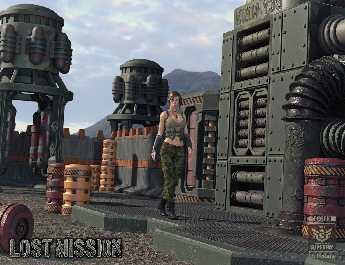 Lost Mission for Poser by RPublishing