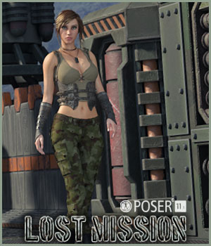 Lost Mission for Poser 3D Figure Assets 3D Models La Femme Pro - Female Poser Figure RPublishing