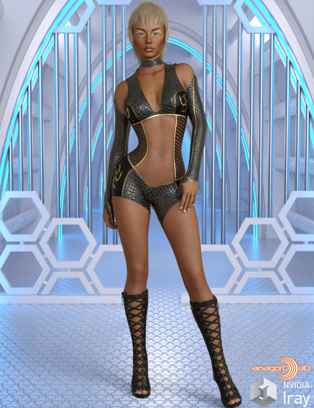 VERSUS - Impact Outfit for Genesis 8 Females by Anagord