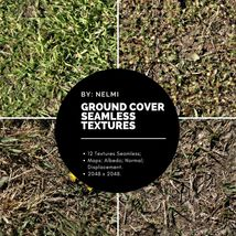 12 Ground Cover PBR Seamless Textures image 1