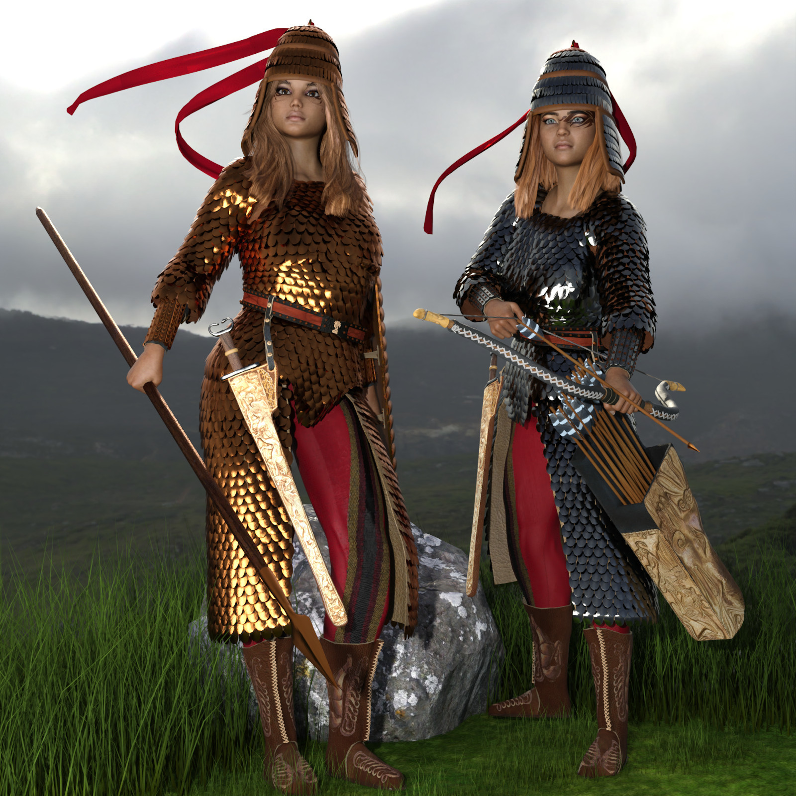 Royal Scythian Armor for Genesis 8 Female
