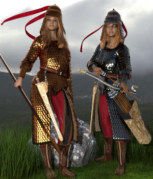 Royal Scythian Armor for Genesis 8 Female 3D Figure Assets 3D Models Deacon215
