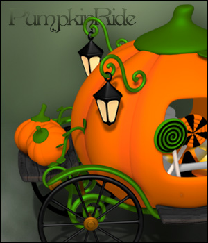 PumpkinRide - Halloween 3D Models digiPixel