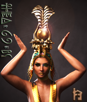 Thea 69 BC Headdress 3D Figure Assets The_Row_House