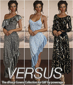 VERSUS - The dForce Gowns Collection for G8F 3D Figure Assets Anagord