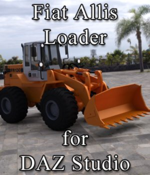 Fiat-Allis Loader FR 130 for DAZ Studio 3D Models Digimation_ModelBank