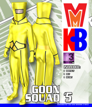 Goon Squad 005 MMKBG3M 3D Figure Assets MightyMite