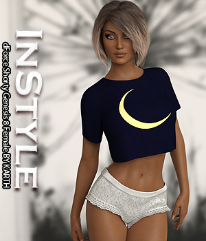 InStyle - dForce Shorty Genesis 8 Female 3D Figure Assets -Valkyrie-