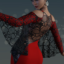 Spiderella dForce dress for Genesis 8 Females image 2