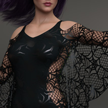 Spiderella dForce dress for Genesis 8 Females image 8