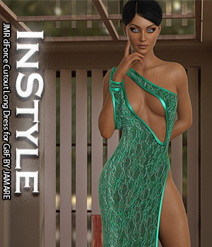 InStyle - JMR dForce Cutout Long Dress for G8F 3D Figure Assets -Valkyrie-