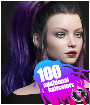 Dark Ponytail Hair Texture Expansion 3D Figure Assets outoftouch