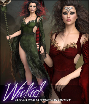 Wicked for dForce Corruption G8F 3D Figure Assets Sveva