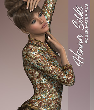 Poser - Henna Silks 2D Graphics Merchant Resources Atenais