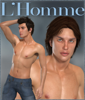 L'Homme Male Base figure for Poser Pro 11 3D Figure Assets RPublishing