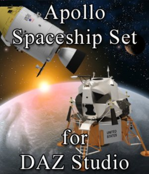 Apollo Spaceship Set for DAZ Studio 3D Models Digimation_ModelBank