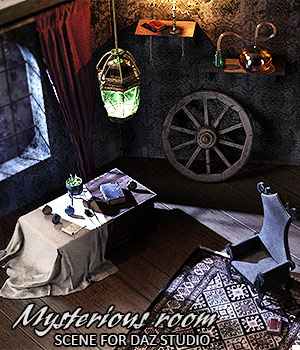 Mysterious Room Daz Studio 3D Models lilflame