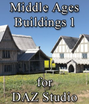 Middle Ages Buildings Set 1 for DAZ Studio 3D Models VanishingPoint