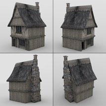 Middle Ages Buildings Set 1 for DAZ Studio image 3