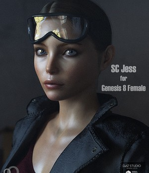 SC Jess for Genesis 8 Female 3D Figure Assets secondcircle