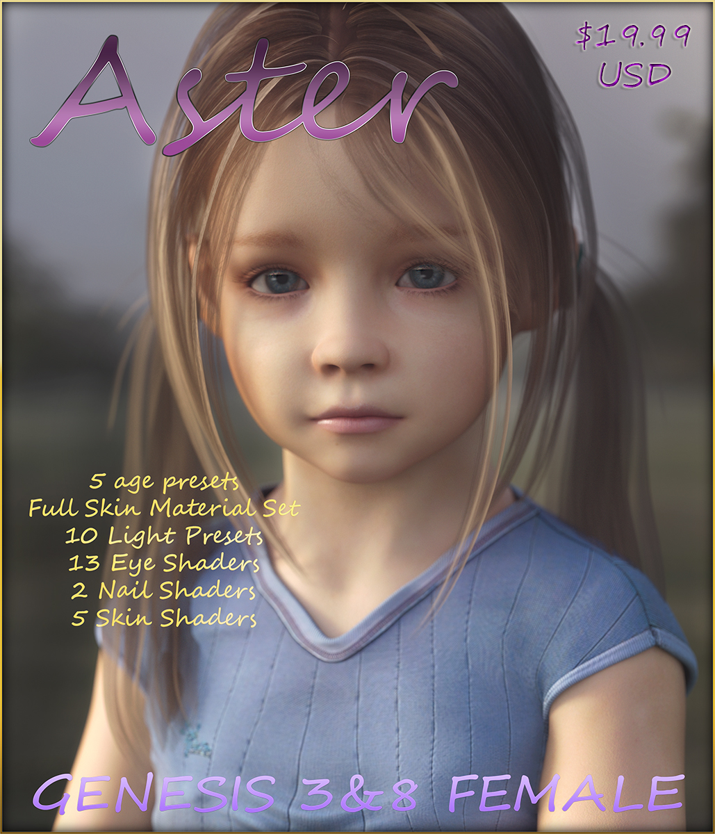 Aster for Genesis 3 and 8 Female