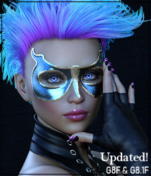 Painted Skin: Masks for G8F 3D Figure Assets 3-DArena