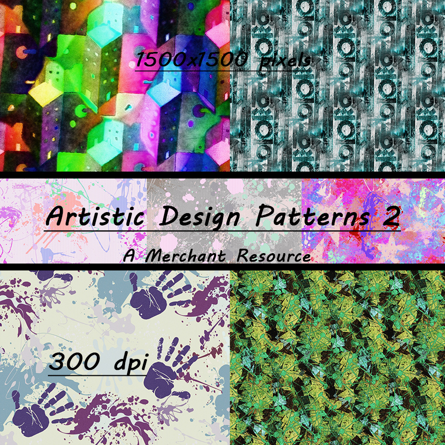 Seamless Artistic Patterns 2 by adarling97