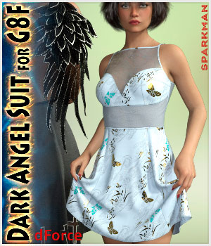 dForce Dark Angel Suit for Genesis 8 Female 3D Figure Assets sparkman