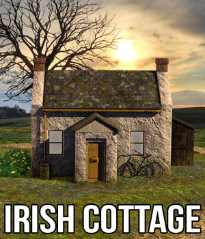 Irish Cottage 3D Models Cybertenko