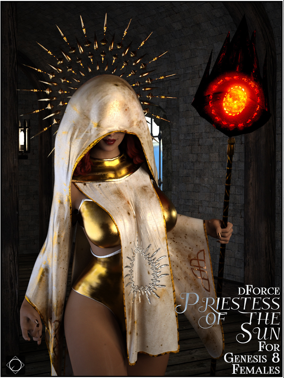 dforce Priestess of the Sun for Genesis 8 Females by SWTrium