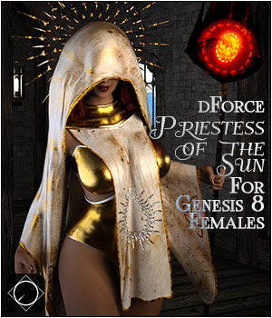 dforce Priestess of the Sun for Genesis 8 Females 3D Figure Assets SWTrium