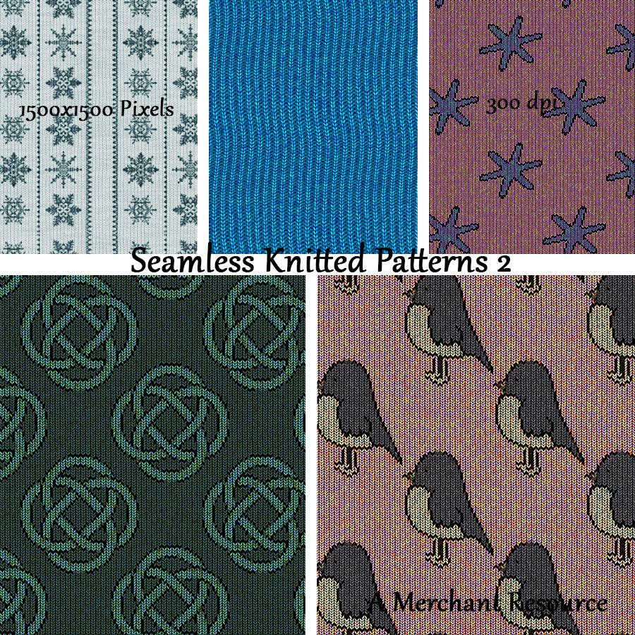 Seamless Knitted Patterns 2 by adarling97