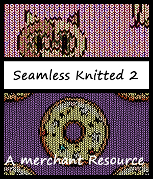 Seamless Knitted Patterns 2 2D Graphics Merchant Resources adarling97