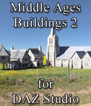 Middle Ages Buildings Set 2 for DAZ Studio 3D Models VanishingPoint
