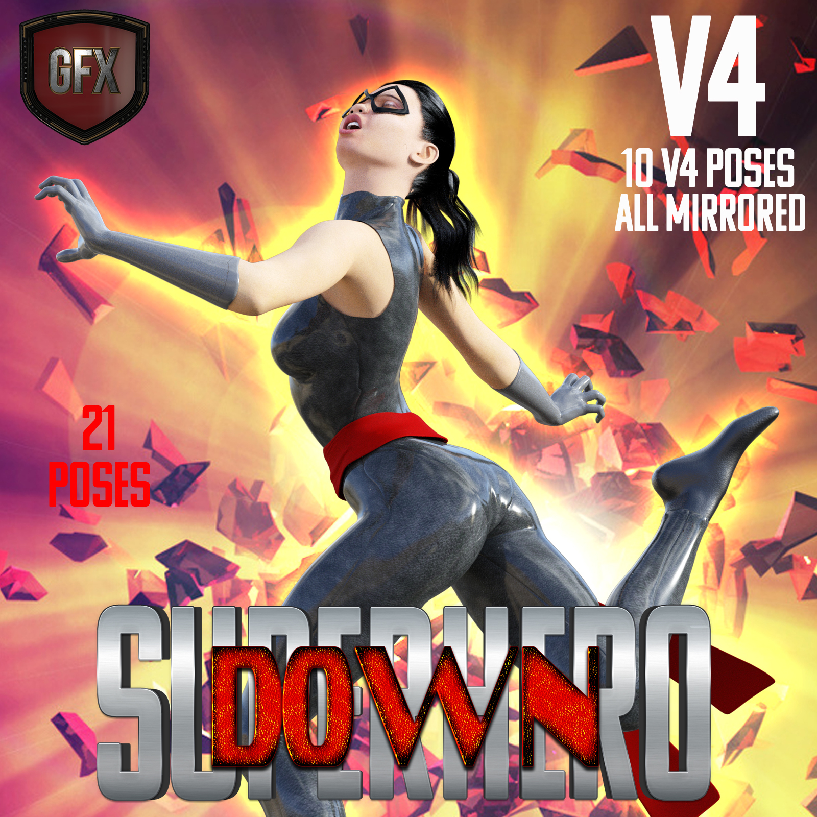 SuperHero Down for V4 Volume 1 by GriffinFX