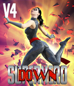 SuperHero Down for V4 Volume 1 3D Figure Assets GriffinFX