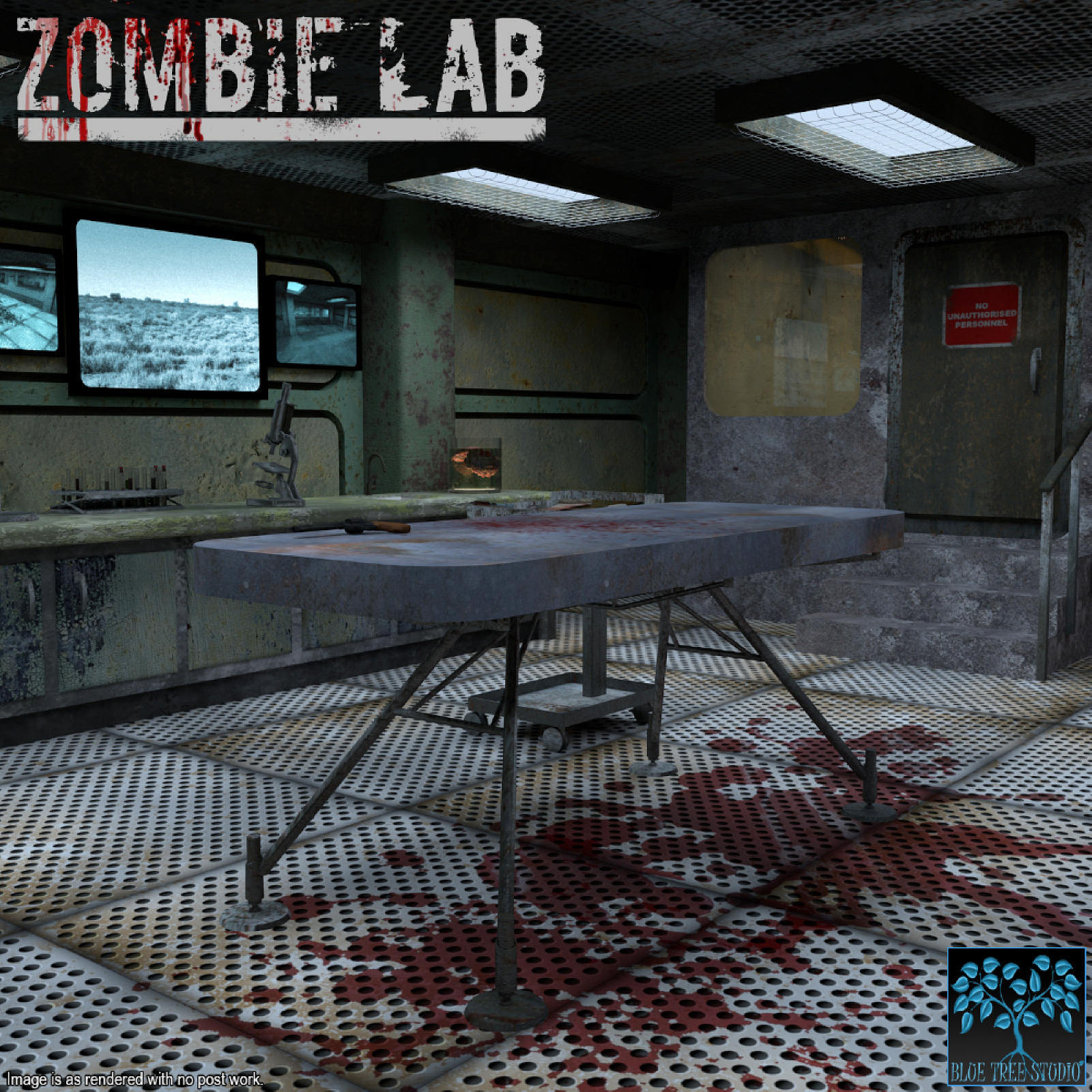 Zombie Lab for Poser by BlueTreeStudio