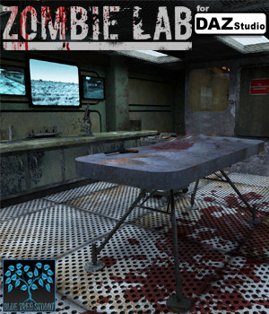 Zombie Lab for DAZ Studio 3D Models BlueTreeStudio