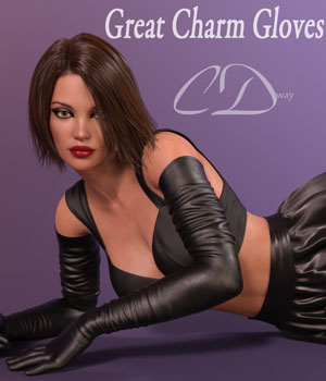 Great Charm Gloves 3D Figure Assets curtisdway