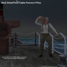 AtoZ DetailTime Cable Fences II v1 for Poser with OBJs image 1