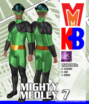 Goon Squad 007 MMKBG3M 3D Figure Assets MightyMite
