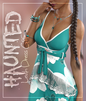 Haunted Leah Dress G8F 3D Figure Assets alexaana